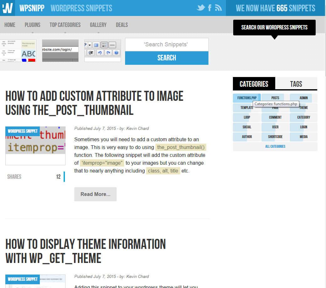 WPSNIPP - Helpful Wordpress Snippets
